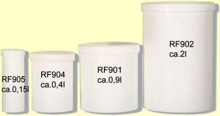 Dosen mit Schraubdeckel ca. 0,4 l, Höhe 10,5cm  RF904