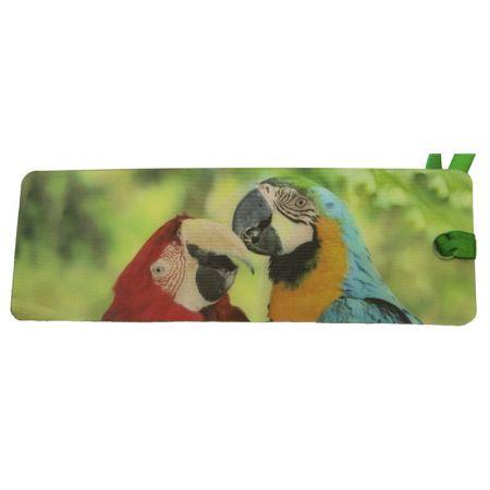Lesezeichen 3D Papageien