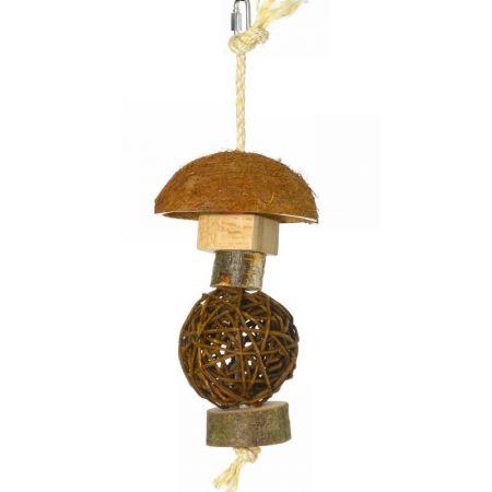 Kokospilz mit Weidenball