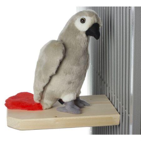 Sitz- / Futterbrett für große Papageien