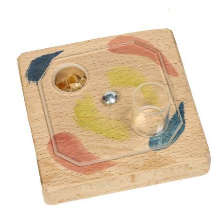 Kreiselspiel mit Acrylglasplatte für Sittiche