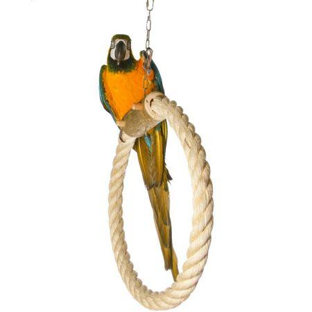 Sisalring für große Papageien d 40cm, Seilstärke 45mm