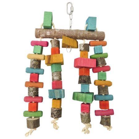 Spielvorhang mittel für Großsittiche u kleine Papageien mit 4 Spielsträngen MG1669