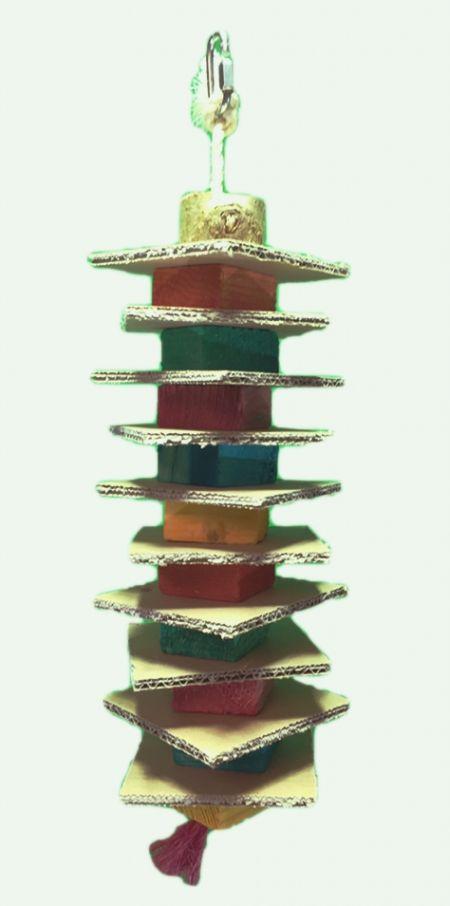 Großer Pappe Schredder Turm