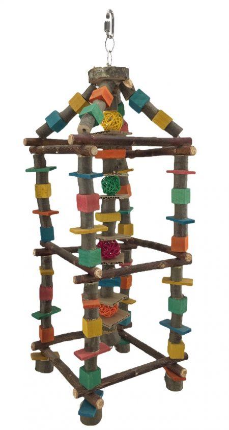 Knabber Tower für Sittiche und kleine Papageien